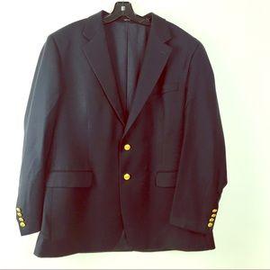 Ralph Lauren men's navy blue 44R 100% wool blazer